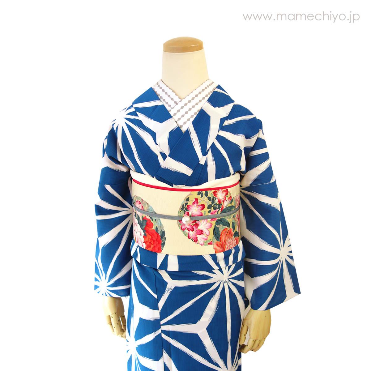 半巾帯 花丸紋