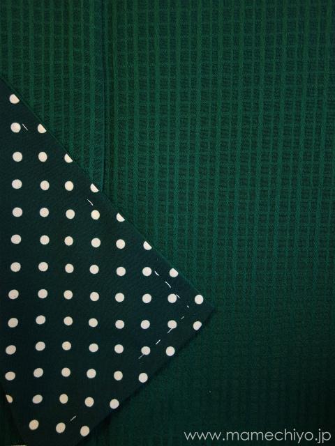 袷着物 puzzle (グリーン) 【店頭在庫含む】