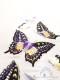 半襟 蝶爛漫(白×紫)