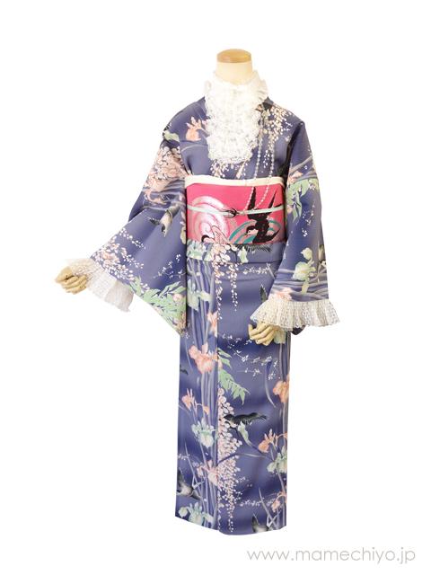 正絹 名古屋帯 博多織 「ツバメ (ピンク)」