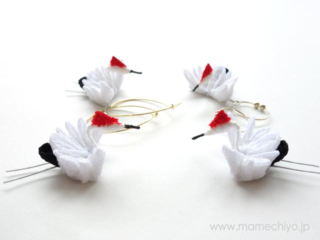 nesoneso(ネソネソ) 鶴イヤリング