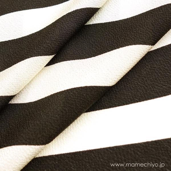 帯揚げ 手綱(斜め縞)黒