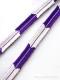 帯締め 矢羽根 (紫)