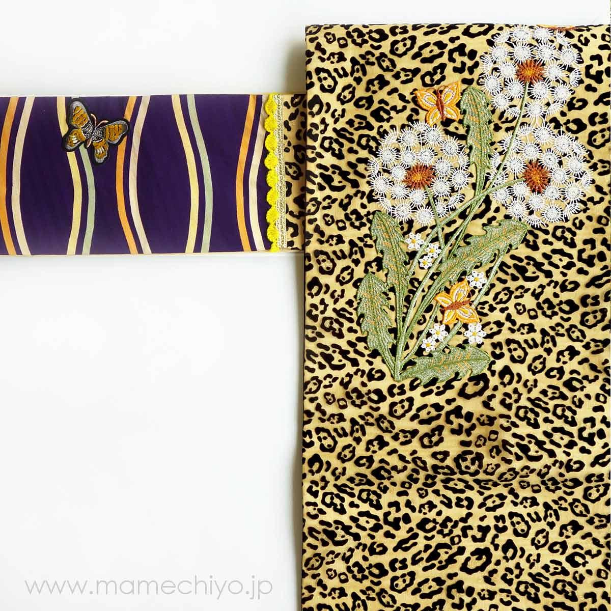 【売り切れ】名古屋帯「dandelion fluff 」(mamechiyo modern Couture)