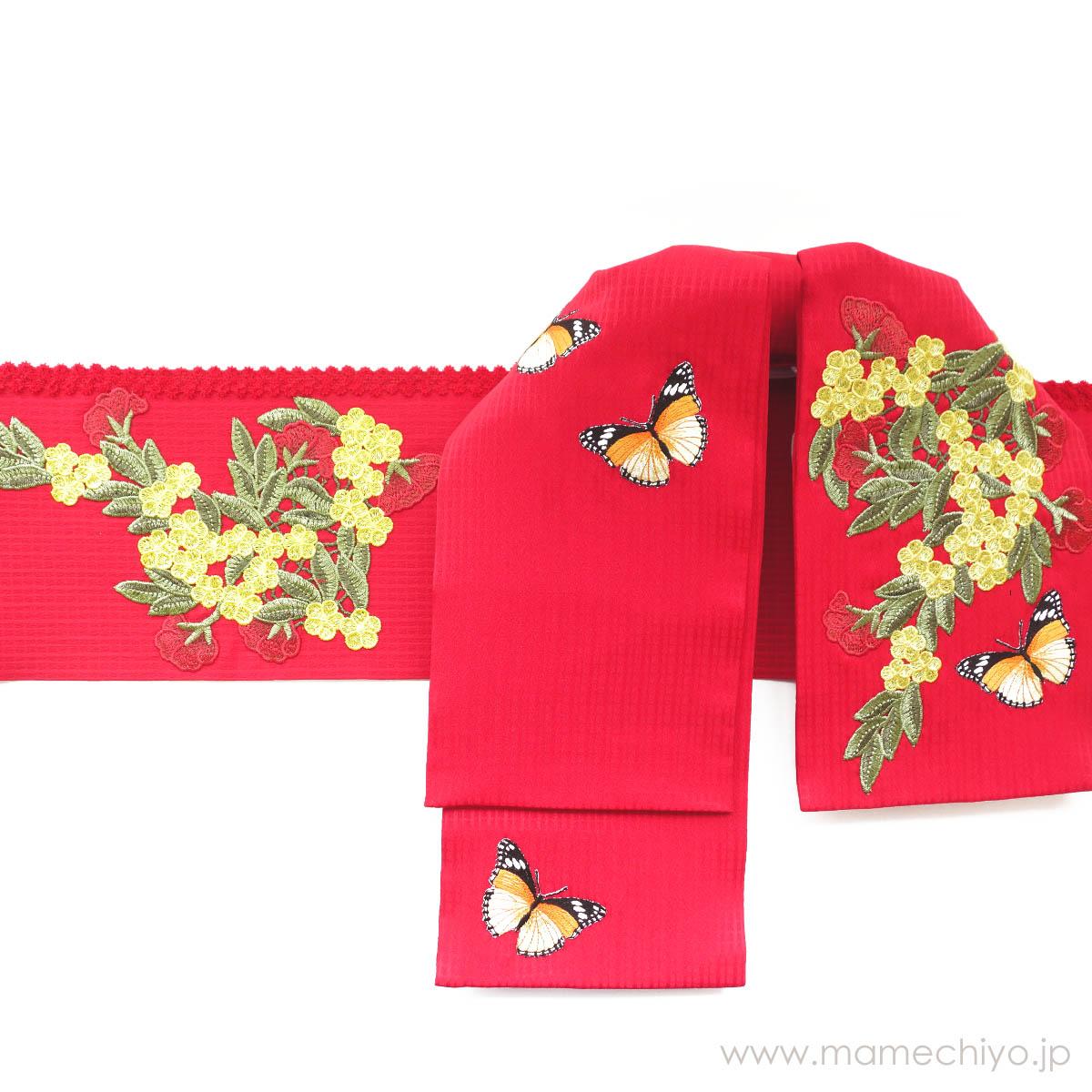 作り帯mamechiyo modern Couture 「puzzle(アカ)」