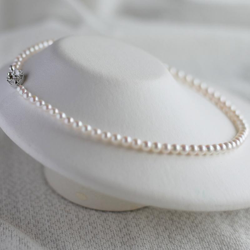 ベビーパール5�珠艶々ネックレス【あこや真珠】