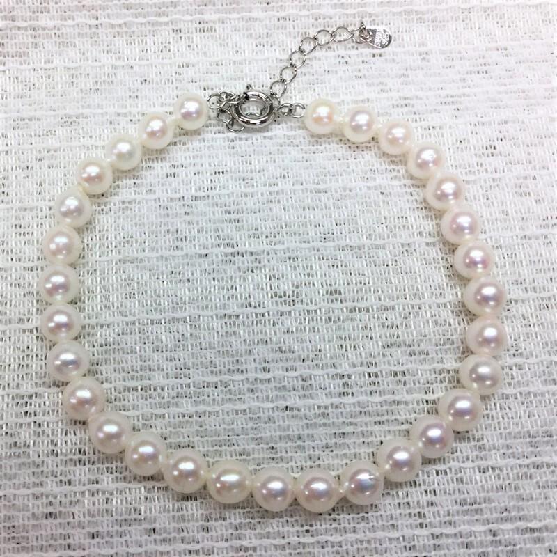 【送料無料】ベビーパール5�珠ブレスレット【あこや真珠】
