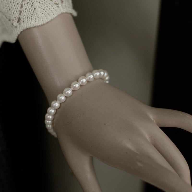 あこや真珠6�珠ブレスレット【あこや真珠】