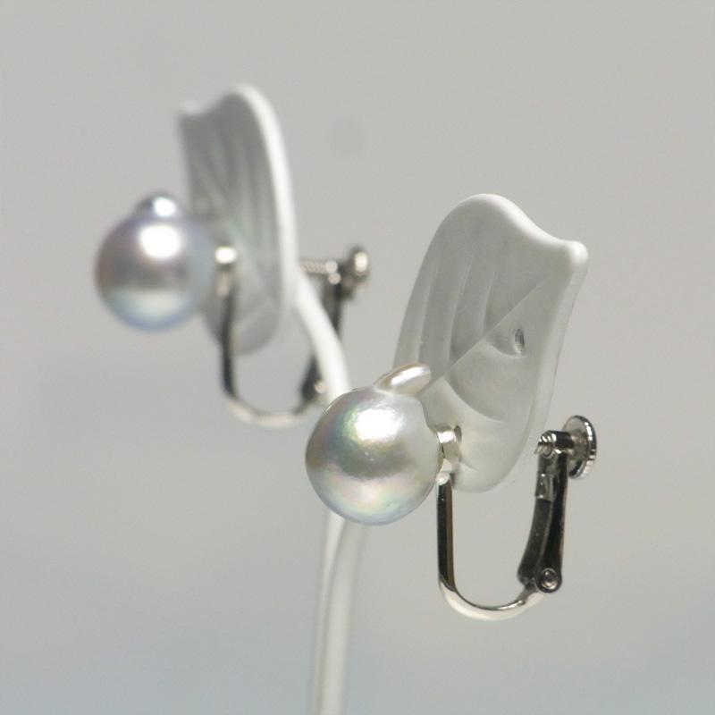 ペア珠探すの難しいナチュラル9�UPバロック真珠のイヤリング-C【ネット限定】