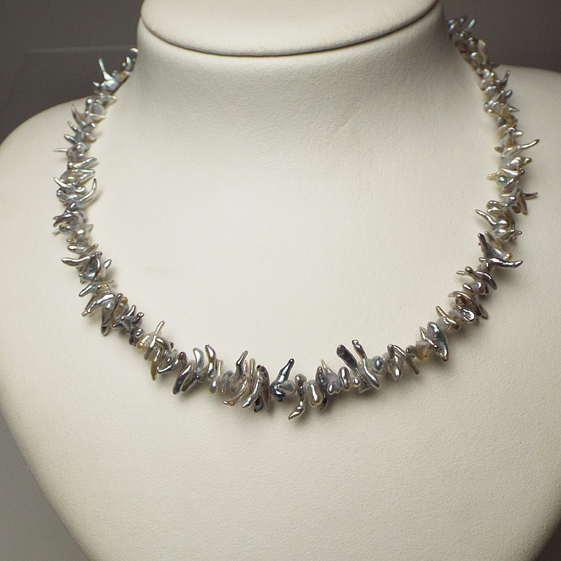 ナチュラルカラーのあこやケシネックレスと大珠こぼれんばかりの9.8�ペンダント【あこや真珠】