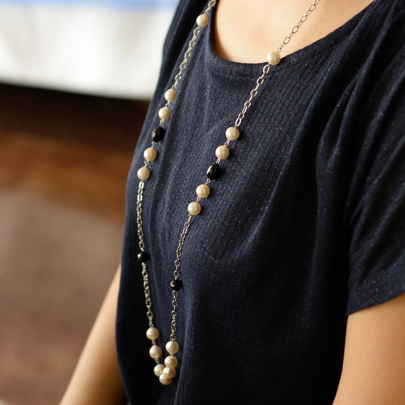 セミバロック98cmステイションロングネックレス【あこや真珠】