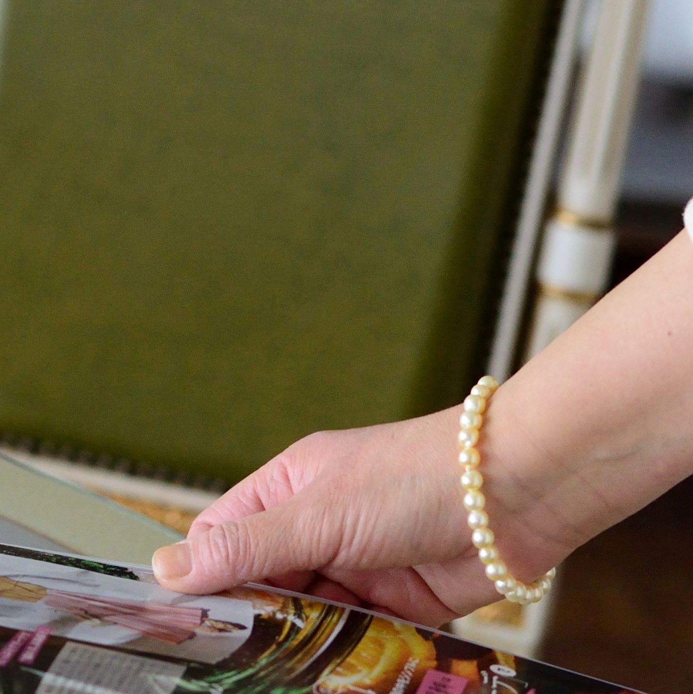 金色6-7�魅惑のブレスレット_bls324【あこや真珠】ナチュラル