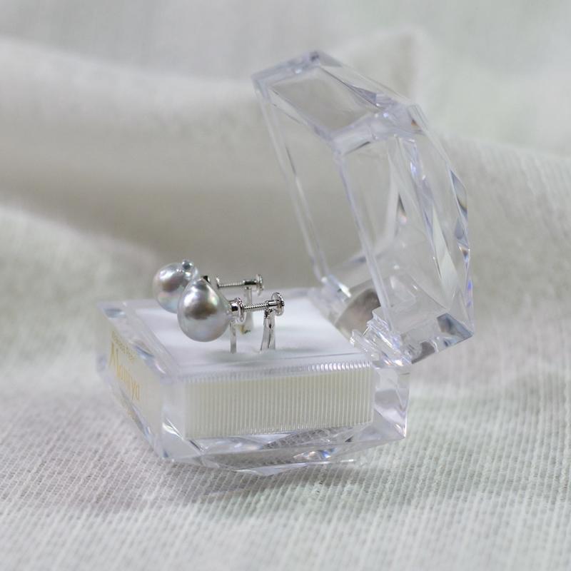 ペア珠探すの難しいナチュラル9�UPバロック真珠のイヤリング-D【ネット限定】