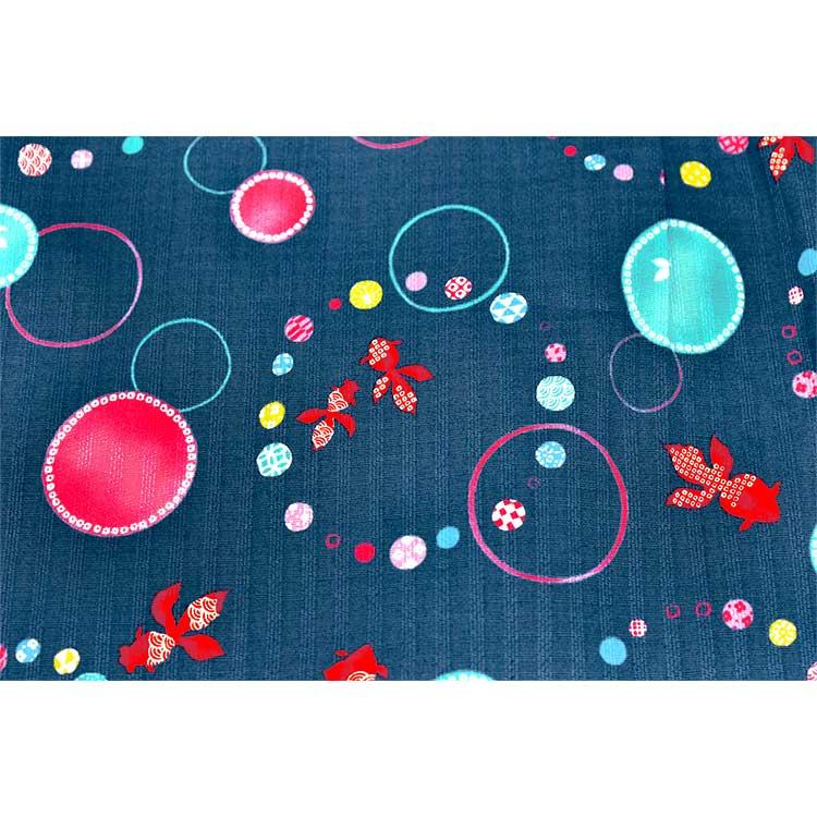 【日本製】水玉金魚柄甚平スーツ (130サイズまでメール便可)