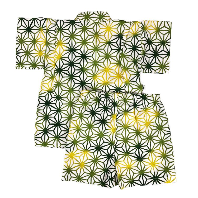 【日本製】麻の葉柄甚平スーツ