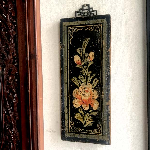 ハンドペインティング壁飾り シノワズリー アンティーク