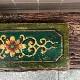 ハンドペインティング壁飾り    *グリーンフラワー
