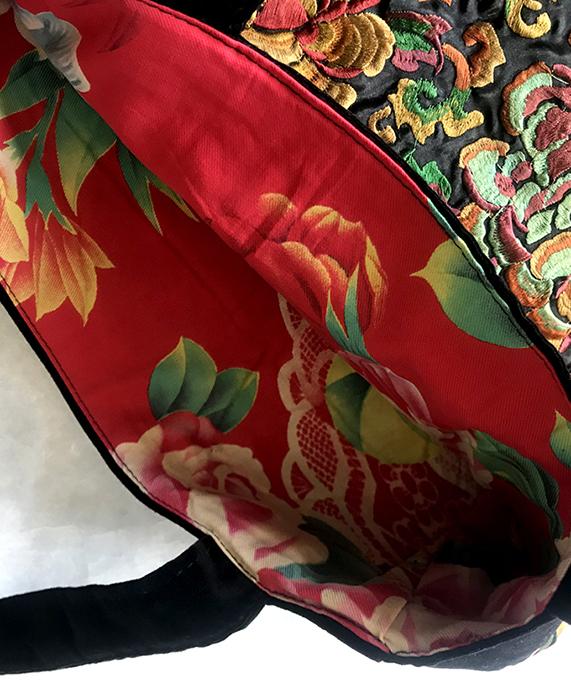 刺繍のレッスンバック 牡丹&鳳凰 オレンジ