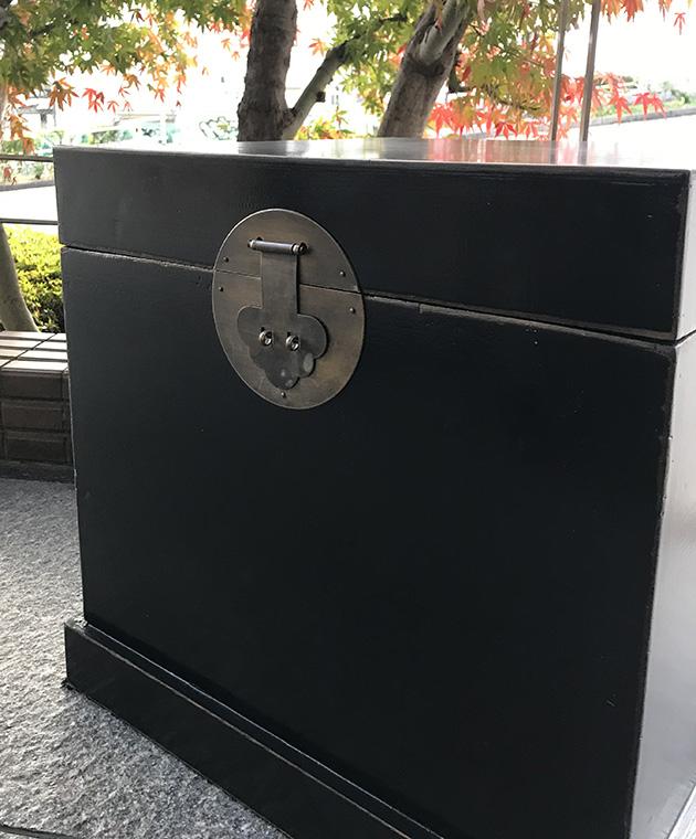 持ち手付収納BOX 黒アンティーク仕上げ