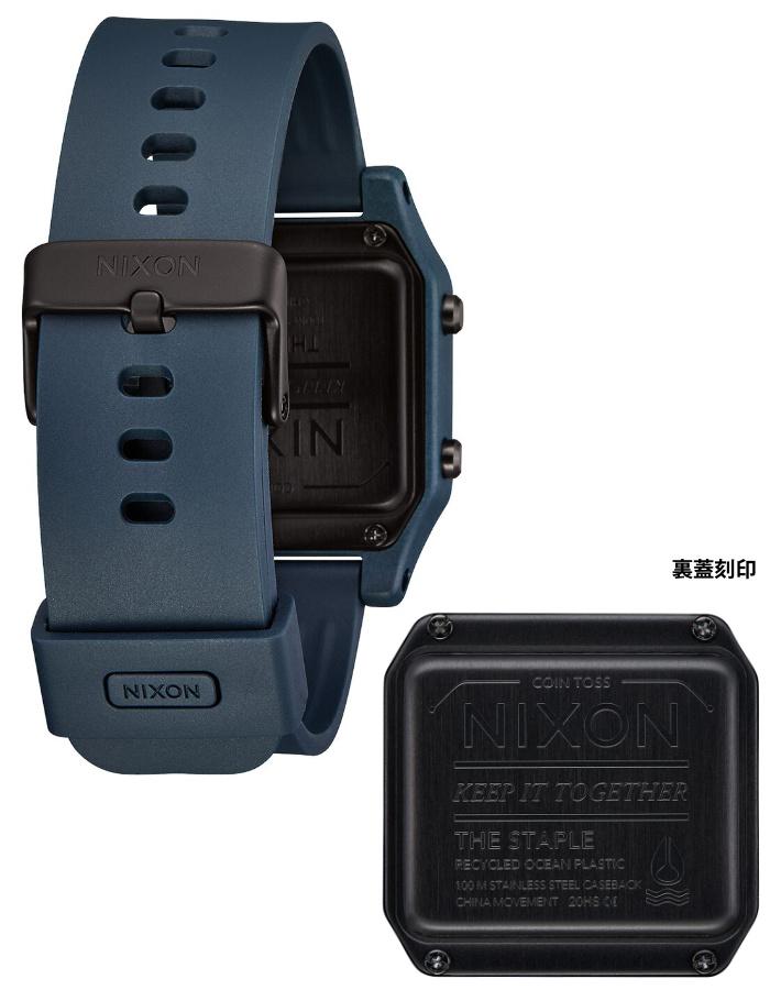 NIXON ニクソン 腕時計 STAPLE - Dark Slate - A1309-2889 ステープル ダークスレート デジタル時計 クロノグラフ 100M/10気圧防水 メンズ サーフィン アウトドア 誕生日 クリスマス プレゼント