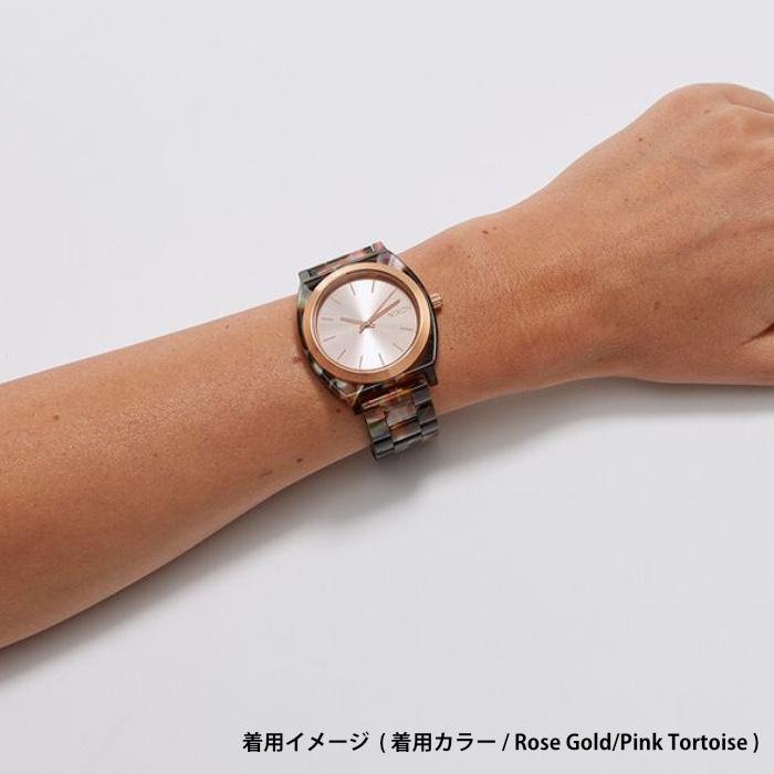 NIXON ニクソン 腕時計 THE TIME TELLER ACETATE - Cream Tortoise - A327-3346 タイムテラーアセテート クリームトートイズ アナログ時計 べっ甲 100M/10気圧防水 レディース 誕生日 クリスマス プレゼント