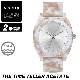 NIXON ニクソン 腕時計 THE TIME TELLER ACETATE - Pink/Silver - A327-718 タイムテラーアセテート ピンク/シルバー アナログ時計 べっ甲 100M/10気圧防水 レディース 誕生日 クリスマス プレゼント
