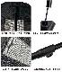 アウトドアチェア用 オットマン フットレスト レッグレスト 足置き場 ワンタッチ コンパクト 軽量 折り畳み 持ち運び 便利グッズ