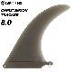 ロングボード用フィン CAPTAIN FIN CO. キャプテンフィン CHRISTENSON TRACKER 8.0 クリステンソン トラッカー センターフィン シングルフィン スタビライザー サーフィン