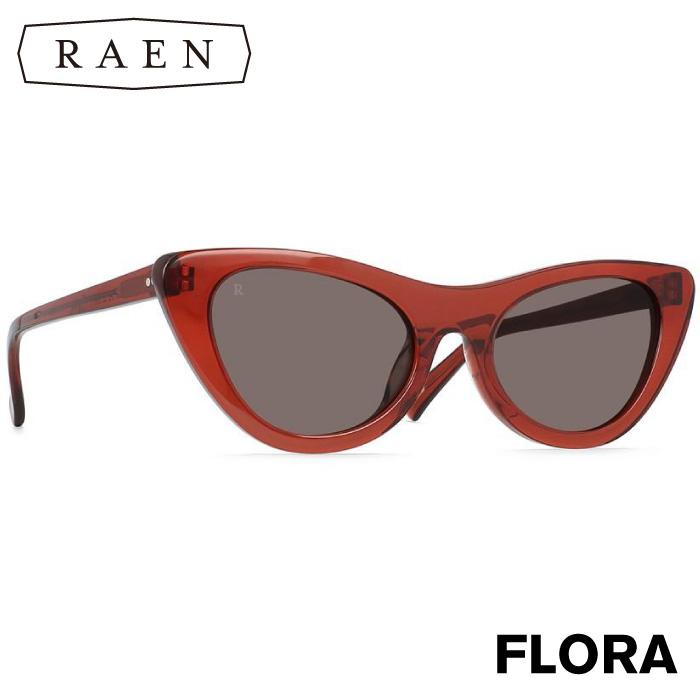 【日本正規品】 RAEN レーン サングラス FLORA Brandy / Plum Brown フローラ ワインレッド キャットアイ メンズ レディース ユニセックス