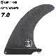 ロングボード用フィン CAPTAIN FIN CO. キャプテンフィン CF SLASHER 7.0 - BLACK スラッシャー ブラック センターフィン シングルフィン スタビライザー サーフィン