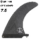 ロングボード用フィン CAPTAIN FIN CO. キャプテンフィン CF SLASHER 7.5 - BLACK スラッシャー ブラック センターフィン シングルフィン スタビライザー サーフィン