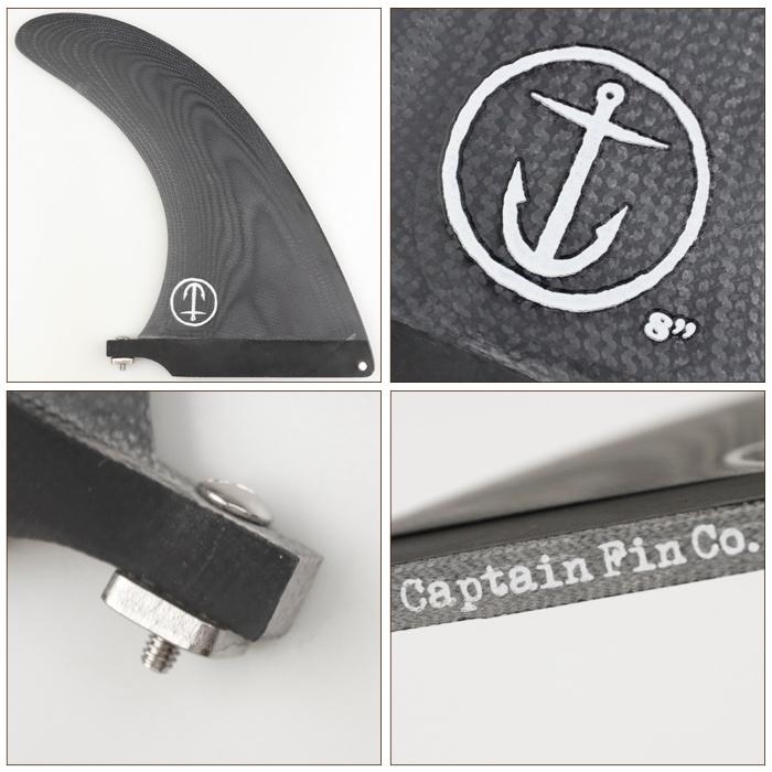 ロングボード用フィン CAPTAIN FIN CO. キャプテンフィン CF SLASHER 8.0 - BLACK スラッシャー ブラック センターフィン シングルフィン スタビライザー サーフィン