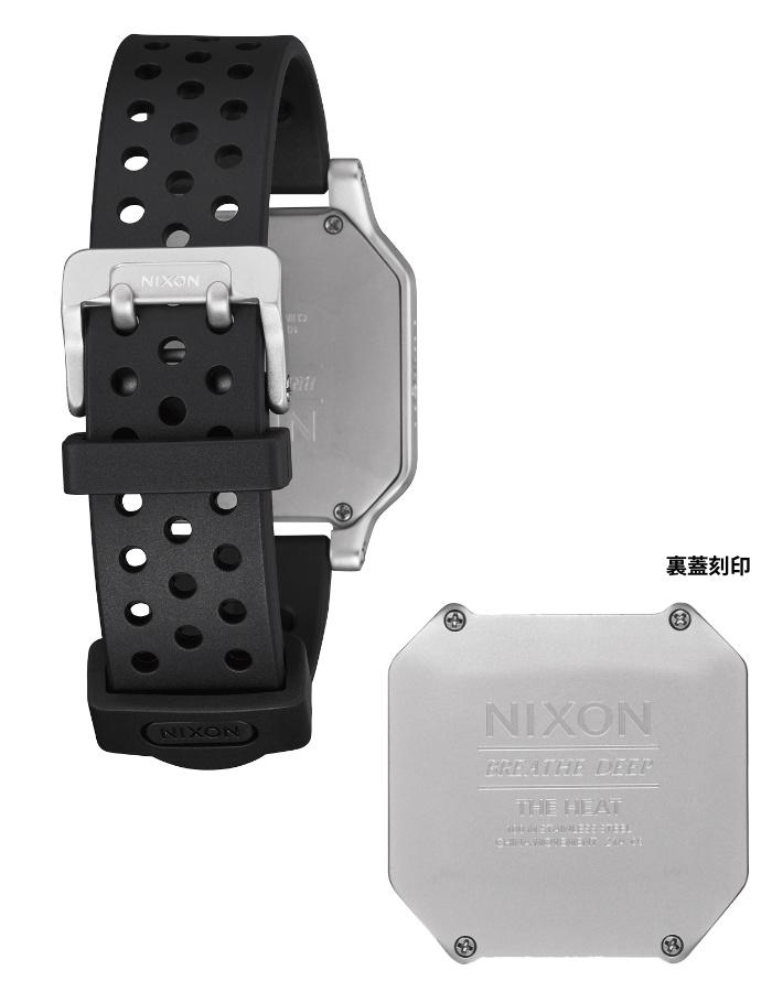 NIXON ニクソン 腕時計 THE HEAT - Silver - A1320-130 ヒート シルバー デジタル時計 100M/10気圧防水 メンズ サーフィン アウトドア 誕生日 クリスマス プレゼント