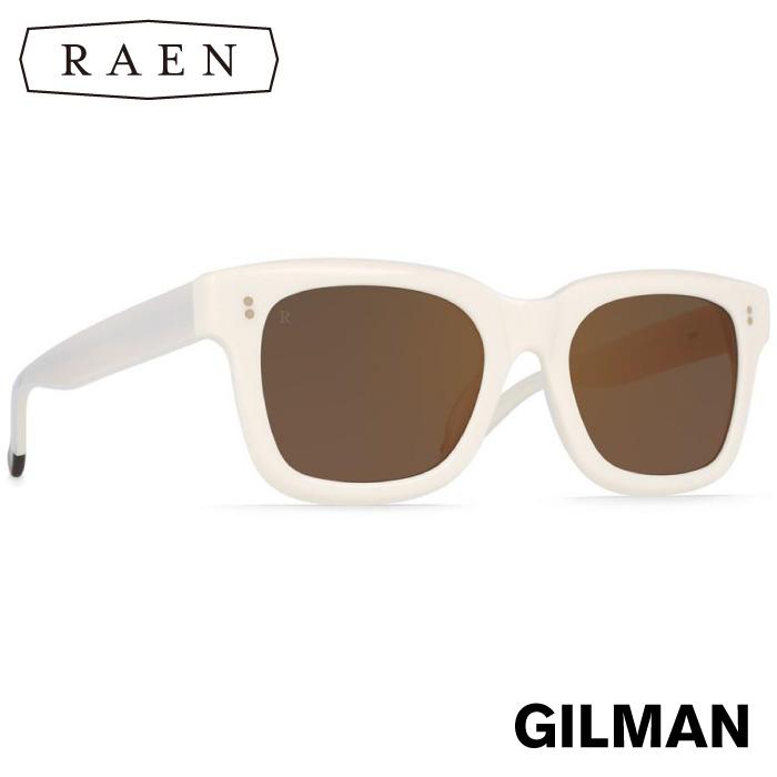 【日本正規品】 RAEN レーン サングラス GILMAN Bone / Brown Rose Mirror ギルマン ホワイト スクエア メンズ レディース ユニセックス