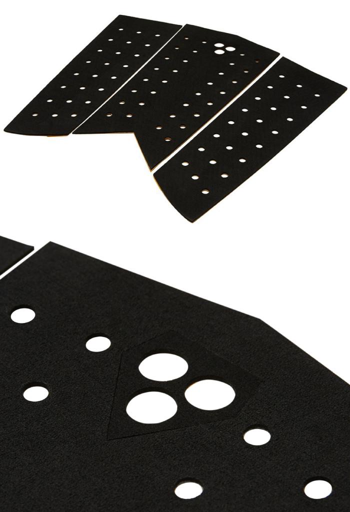デッキパッド レトロボード用 GORILLA GRIP ゴリラグリップ SKINNY SERIES - FISH スキニーフィッシュ 3ピース デッキパッチ デッキパット サーフィン フィッシュボード用