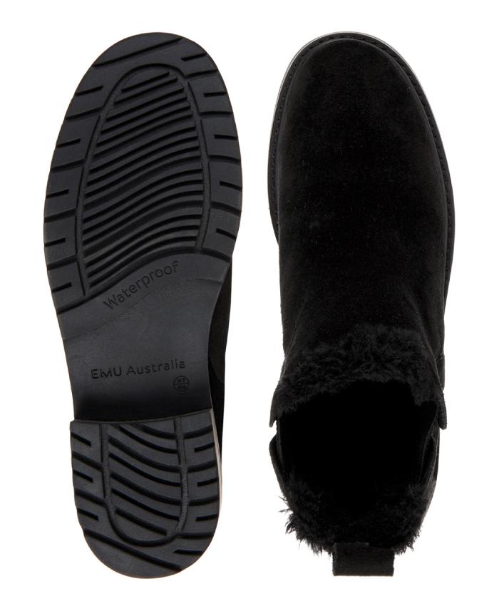 日本正規品 emu エミュー シープスキンブーツ パイオニア Pioneer W11292 完全防水 サイドゴアブーツ ムートンブーツ 長靴 レインブーツ emuブランド箱 付属
