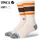 STANCE SOCKS スタンスソックス メンズ靴下 BOYD ST - Off White - INFIKNIT インフィニット スケーターソックス ハイソックス メンズソックス