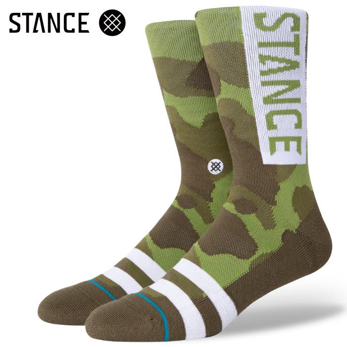 STANCE SOCKS スタンスソックス メンズ靴下 OG - Camo スケーターソックス ハイソックス メンズソックス
