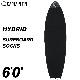 """サーフボードケース ショートボード用 CAPTAIN FIN CO. キャプテンフィン HYBRID SURFBOARD SOCKS 6'0"""" ハイブリッド ニットケース ソフトケース フィッシュ用 レトロ用 ショート用 サーフィン"""