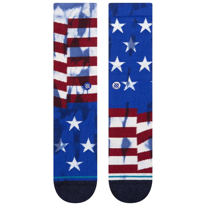 STANCE SOCKS スタンスソックス メンズ靴下 THE BANNER - Navy - Mix Match - INFIKNIT ミックスマッチ インフィニット スケーターソックス ハイソックス メンズソックス