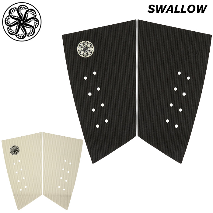 デッキパッド OCTOPUS オクトパス SWALLOW スワロー 2ピース レトロ フィッシュ ショートボード用 デッキパッチ デッキパット サーフィン