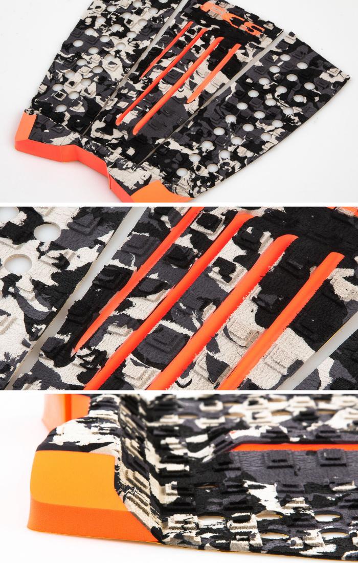 デッキパッド ショートボード用 FCS エフシーエス JULIAN WILSON ジュリアンウィルソン 3ピース デッキパッチ デッキパット サーフィン ショート用