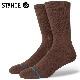 STANCE SOCKS スタンスソックス メンズ靴下 ICON - Brown スケーターソックス ハイソックス メンズソックス