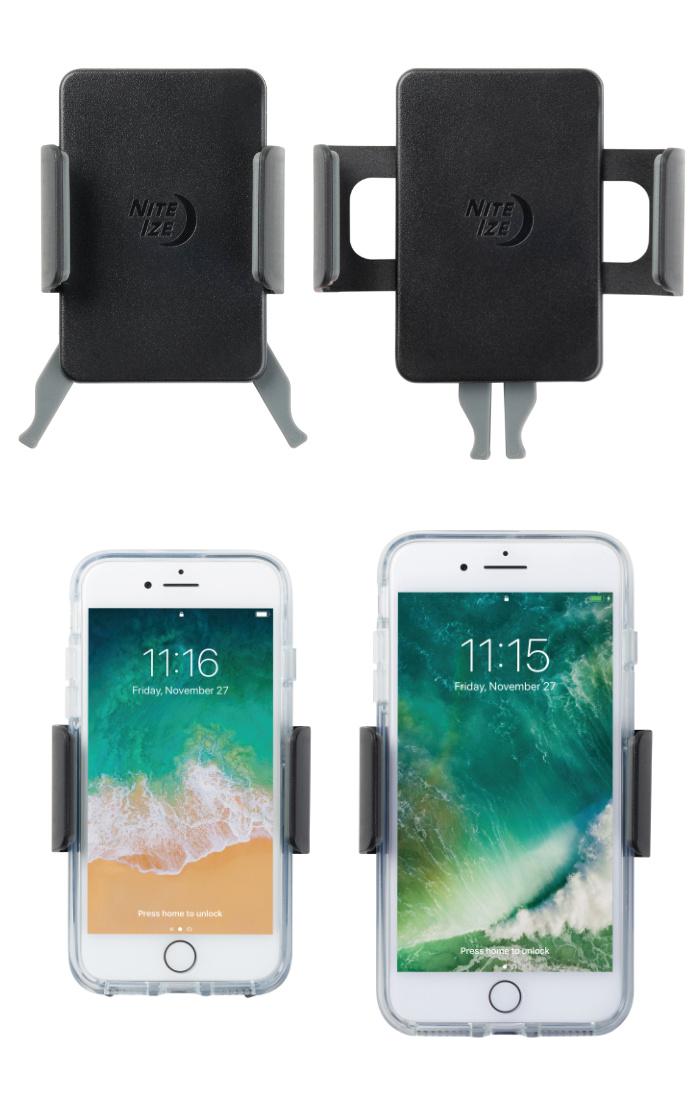 NITEIZE ナイトアイズ スクイーズ スマートフォンバーマウント SQUEEZE ROTATING SMARTPHONE MAR MOUNT スマホスタンド スマホホルダー ベビーカー iPhone