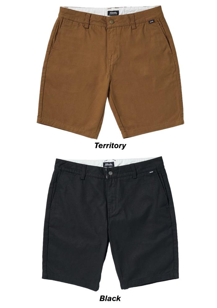【日本正規代理店品】 AFENDS アフェンズ メンズ ハーフパンツ M183305-191 Supply Chino Walkshort ショートパンツ 膝上 チノ