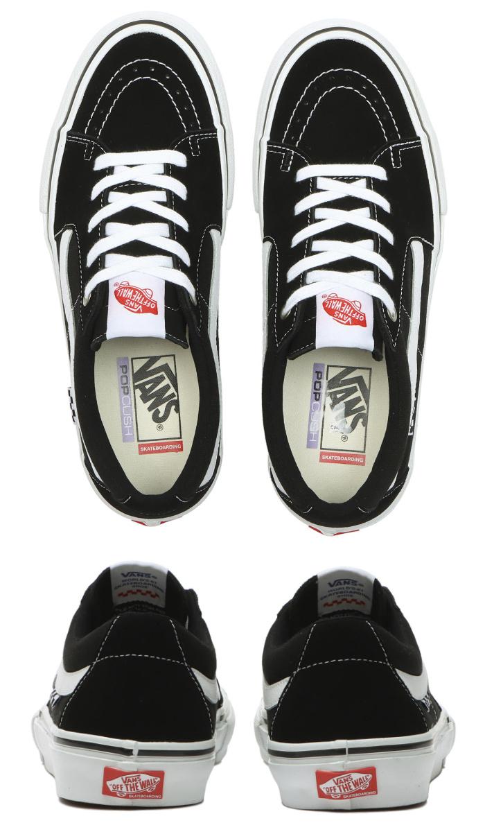 VANS バンズ ヴァンズ スニーカー ローカット (VN0A5FCFY28) SKATE SK8-LOW - BLACK/WHITE スケートロー スケートロウ ブラック メンズスニーカー スケートシューズ スケシュー 靴 男性用