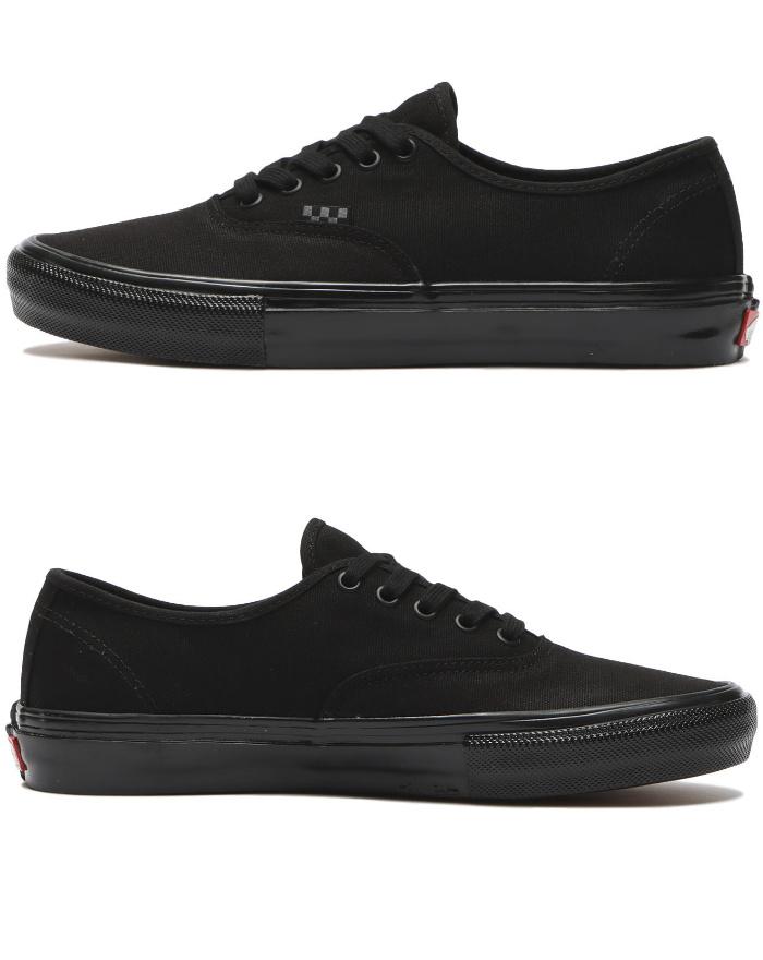 VANS バンズ ヴァンズ スニーカー ローカット (VN0A5FC8BKA) SKATE AUTHENTIC - BLACK/BLACK スケートオーセンティック オールブラック メンズスニーカー スケートシューズ スケシュー 靴 男性用