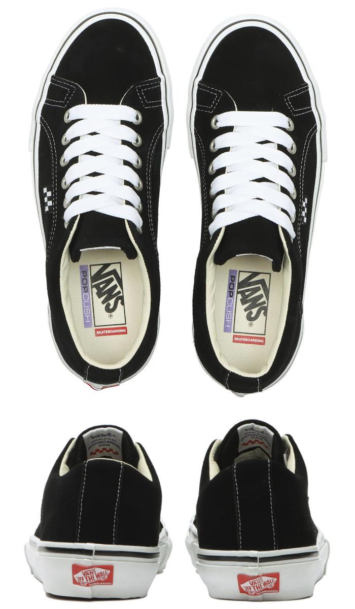 VANS バンズ ヴァンズ スニーカー ローカット (VN0A5FCHY28) SKATE LAMPIN - BLACK/WHITE スケートランピン ブラック メンズスニーカー スケートシューズ スケシュー 靴 男性用