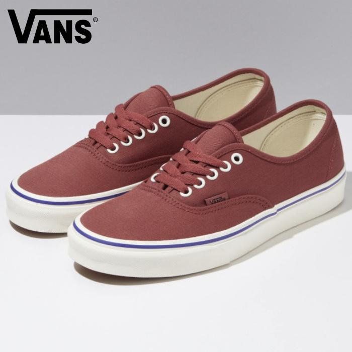 VANS バンズ ヴァンズ スニーカー ローカット (VN0A348A40J) AUTHENTIC - (RETRO CALI) MARSALA/SPECTRUM BLUE オーセンティック マルサラ メンズスニーカー スケートシューズ スケシュー 靴 男性用