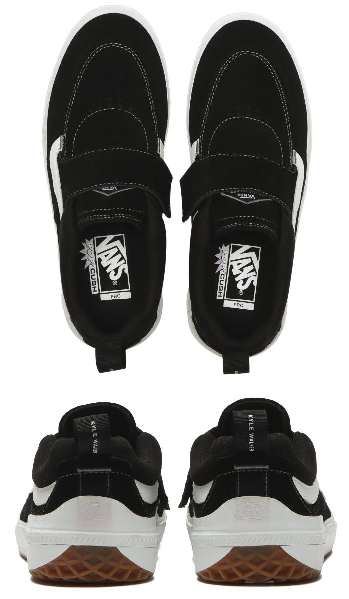 VANS バンズ ヴァンズ スニーカー スリッポン (VN0A4UW3Y28) KYLE WALKER PRO 2 - BLACK/WHITE カイルウォーカープロ2 ブラック/ホワイト メンズスニーカー スケートシューズ スケシュー 靴 男性用